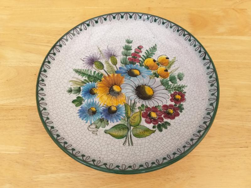 Wandbord / schaal met bloemen