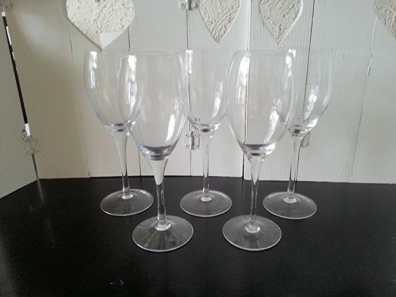 Set 5x groot rode wijn glas