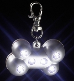 KARLIE blinki bone zilver met 6 led lampjes 5X3X2 CM