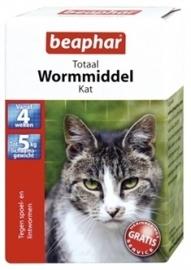 BEAPHAR wormtablet kat 10 STUKS