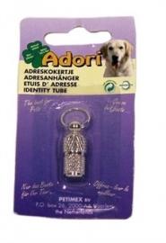 ADORI adreskokertje hond chroom