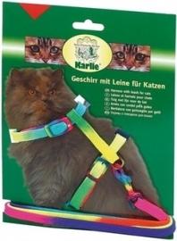KARLIE kattentuig met lijn regenboogkleur