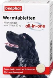 BEAPHAR wormtablet hond  2.5-20 kg