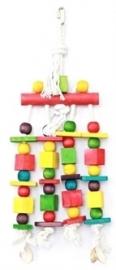 HAPPY pet speelgoed block n beads papegaai 16X45 CM