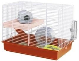 FERPLAST hamsterkooi duo wit / oranje 46X29,5X37,5 CM