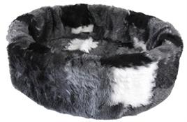 PETCOMFORT bontmand lapjesdeken grijs 40 CM