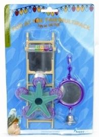 HAPPY pet bird toy mp spiegel / ladder / carousel 20X9X4 CM