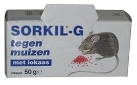 SORKIL G muizen/ratten lokaas met doosje ca  12X5X5 CM