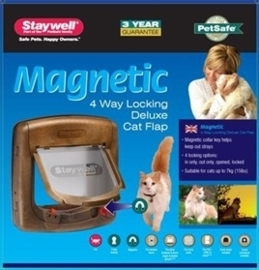 PETSAFE kattenluik tot 7 kg magnetisch slot hout 420