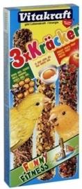 VITAKRAFT kanarie kracker honing / fruit / ei 3 IN 1