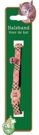 KATTENHALSBAND pvc caledonia roze