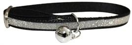 HAPPY pet halsband glitter zwart 22,5-31CM