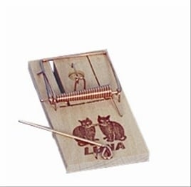 LUNA houten muizenval kaart 2 PCS