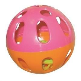 HAPPY pet knaagspeeltje speelbal plastic assorti 6,5X6,5X6,5 CM