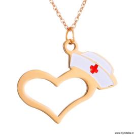 KETTING NURSES AT HEART GOUD- ZILVER OF ROSÉ KLEUR