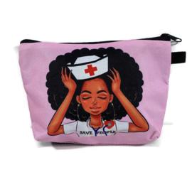 Verpleegkundige-tasje SAVE PEOPLE voor tools & cosmetica