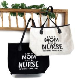Schoudertas Verpleegkunde -Non Scared - Mom & Nurse Naturel