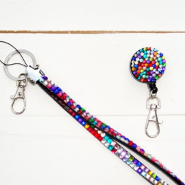 ZIPPER - JOJO & KEYCORD STRASS MULTICOLOR