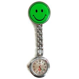Verpleegstershorloge metal smile Lichtgroen