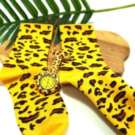 Actie: Zorghorloge + sokken Luipaard
