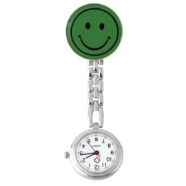Verpleegstershorloge metal smile groen