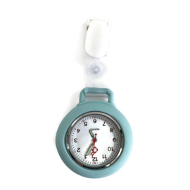 Horloge met PU clip - Pastel groen