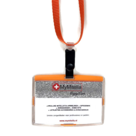 Billy Pashouder / badgeholder + Lanyard - Oranje