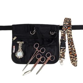 Large Zorgset Heuptas + accessoires Zwart & Panter