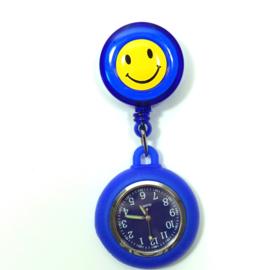 Verpleegstershorloge Happy Flex  Blauw