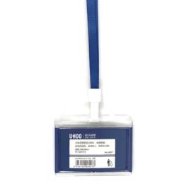 Acryl Pashouder / badgeholder + Lanyard - Blauw
