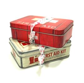 Retro Blik EHBO kit rood
