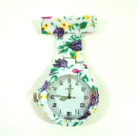 Verpleegkundige horloge schakel & print Violet