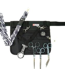 Large Zorgset Heuptas + accessoires Zwart & Zebra