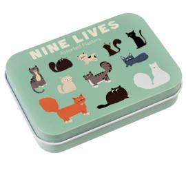 Pleister blikje - Nine Lives Kattenparade - Rex London