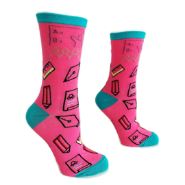 H2C onderwijs sokken - Pink & Aqua