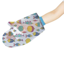 Kinder Douchehoes Vissen - hand/arm - small