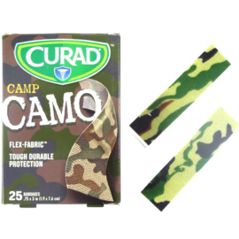 50 stuks stoere pleisters Camo in doosje