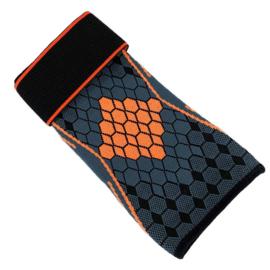Elastische elleboog band- brace grijs-oranje