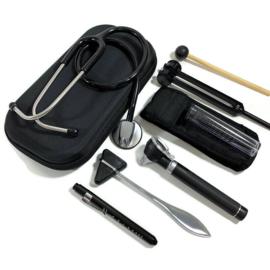 Stethoscoop + instrumenten  medici - zwart