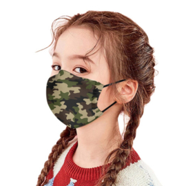 "Kids Mondkapje ""Camouflage"""