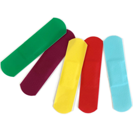 50 stuks gekleurde pleisters basic