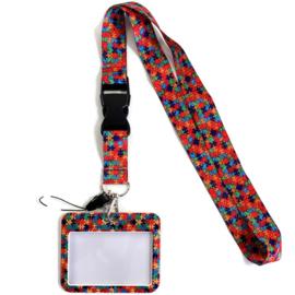 Keycord & pas houder horizontaal - Puzzel