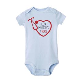 Baby Rompertje Hart & Stethoscoop - Nurse Lichtblauw