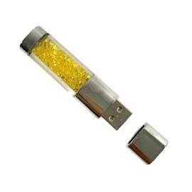 USB stick BLING BLING met strass steentjes Geel