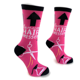 Happy2Wear sokken Hairdresser Awesome & Pink