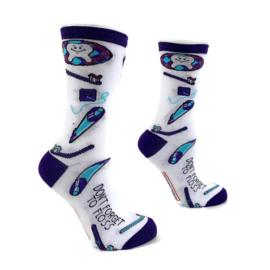 H2C sokken tandarts - mondhygiënist - Don't forget to floss
