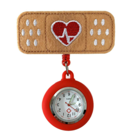 Zorghorloge Flex Pleister heartbeat rood