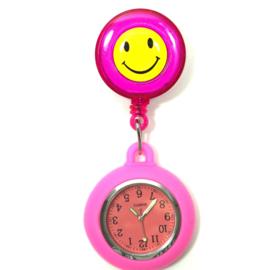 Verpleegstershorloge Happy Flex  Roze