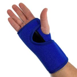CTS polsbrace met (nacht) spalk Blauw