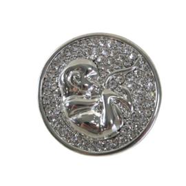 Sierspeld kraamzorg / verloskunde strass zilver
